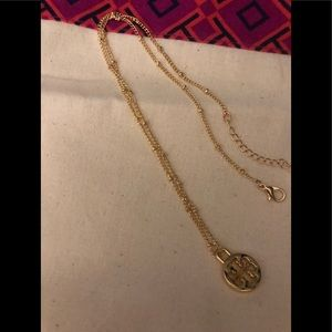 Tory Burch Gold Logo Charm Necklace.(NWOT).
